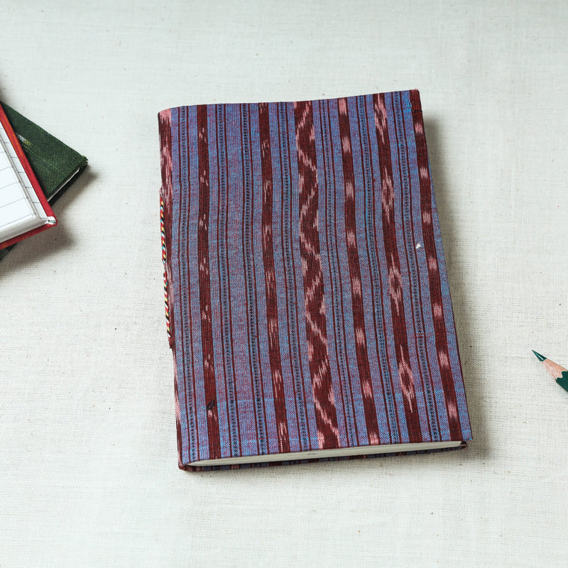Ikat Fabric Cover Handmade Paper Notebook (7 x 5 in)
