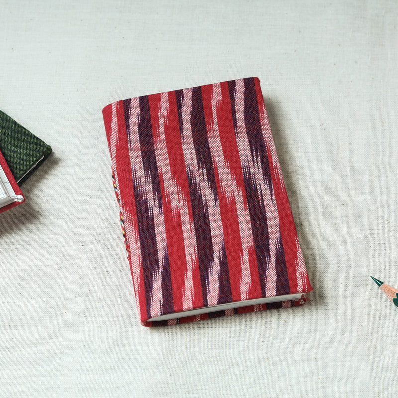 Ikat Fabric Cover Handmade Paper Notebook (5 x 3.5 in)