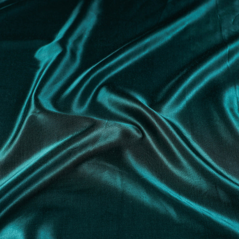 Dark Sea Green - Pure Mashru Silk Plain Fabric (Width - 45 in)