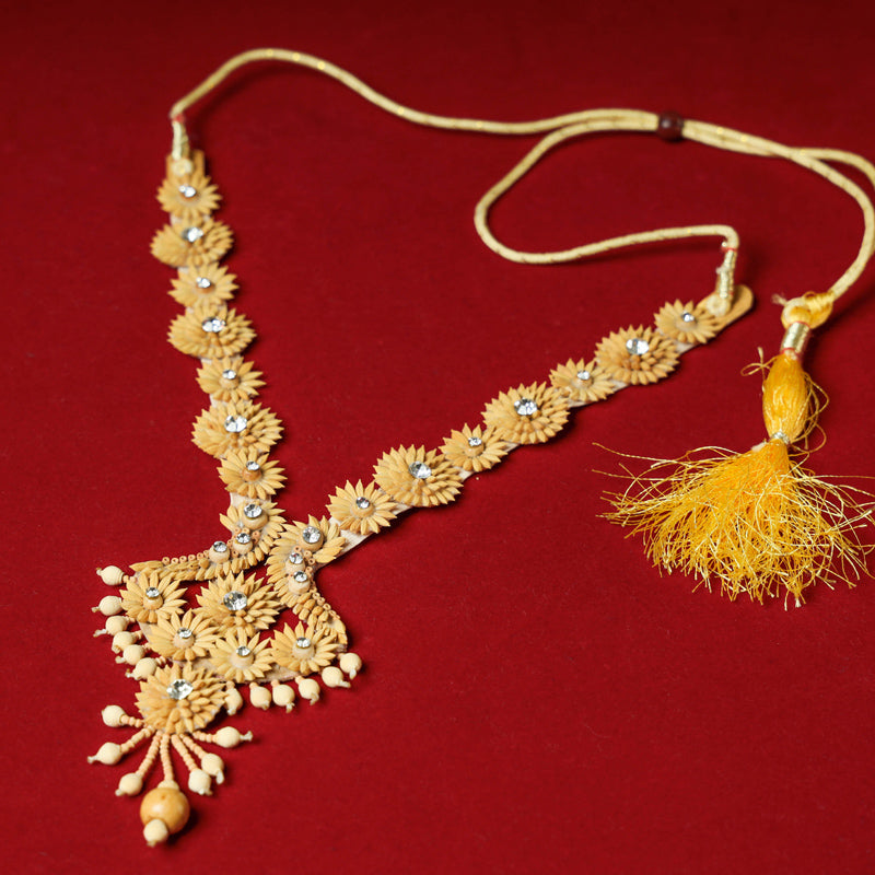Handcrafted Rice Paddy Necklace by Putul Das Mitra