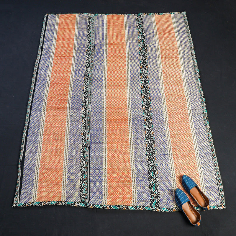 Cushioned Madur Grass 3 Fold Floor Mat of Midnapur (69 x 53 in)