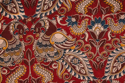 Kalamkari Screen Print Cotton Precut Fabric - 1.20 Meter