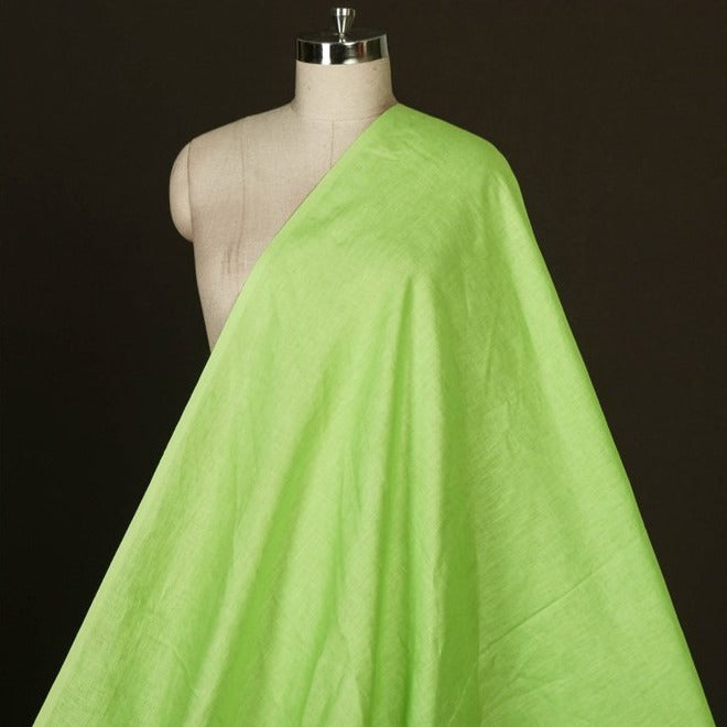 Neon Green - Handwoven Pure Linen Fabric from Bhagalpur