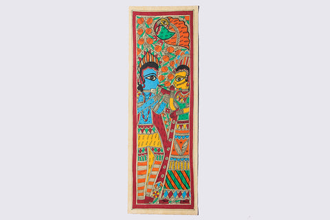 22in x 7.5in - Traditional Madhubani Painting