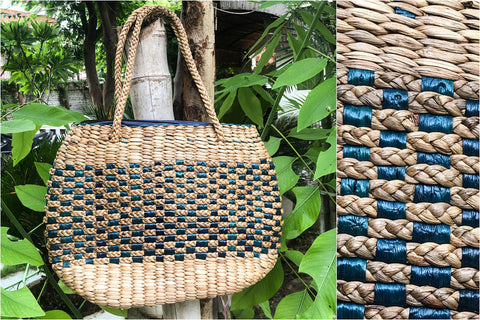 Handmade Organic Water Hyacinth Shoulder Bag from Assam