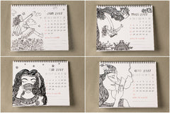 'We Are The Stories We Tell Ourselves' - Table top calendar By Indu Harikumar