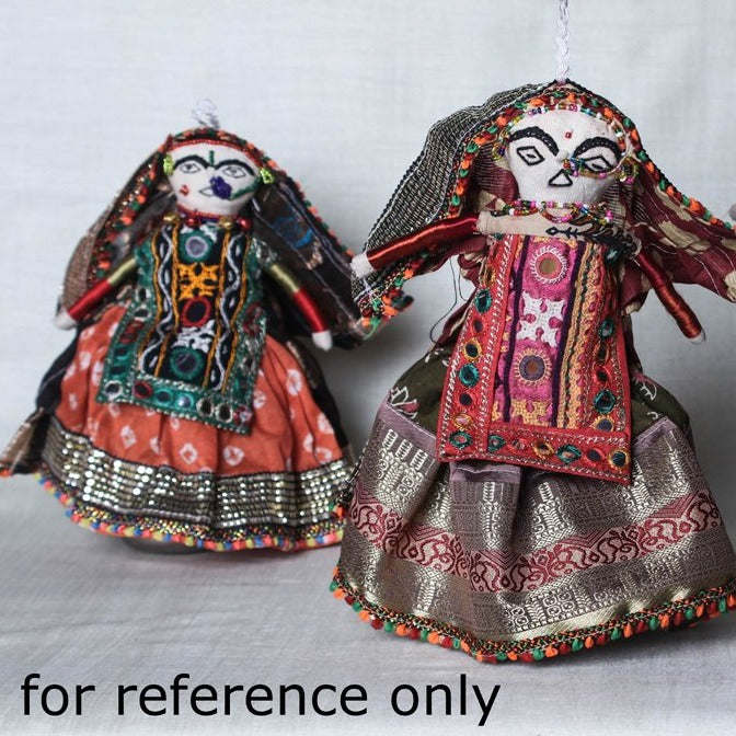 Traditional Kutchi Embroidery Handmade Doll (Dhingla)