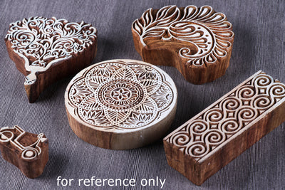 Hand-carved Sheesham Wood Block