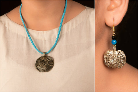 Dokra Threadwork Necklace Set by Miharu
