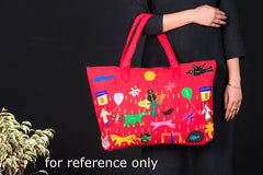 Pipli Applique Work Cotton Shoulder Bag