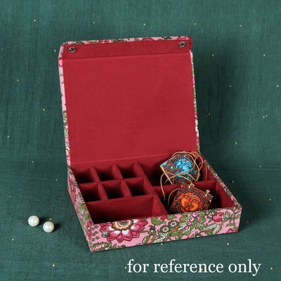 Sukriti Handmade Printed Fabric Jewelry Box (Large)
