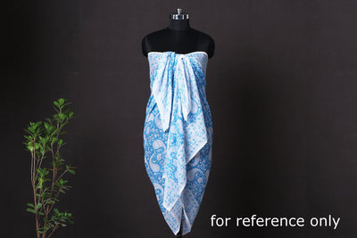 Shibori Tie-Dye Mul Cotton Dupatta/Wrap Sarong Pareo/Beach Wear