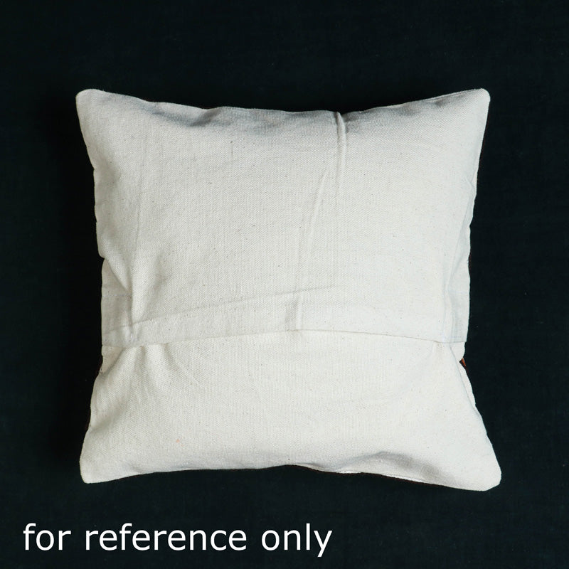 Original Chain Stitch Crewel Silk Thread Hand Embroidery Cushion Cover (16 x 16 in)