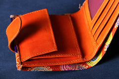 Patch Work Leather Wallet