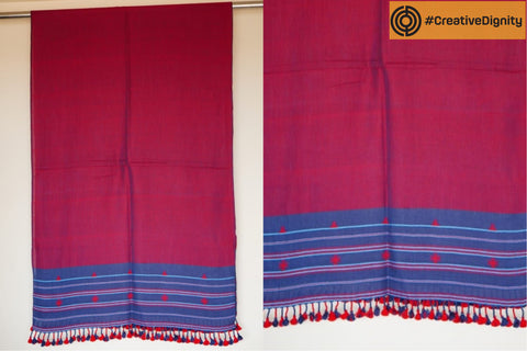 Kutch Bhujodi Weaving Tabhanis Handloom Cotton Stole by Vinay Siju