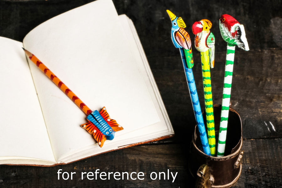 Handpainted Wooden Pencils From Banaras (set of 4)