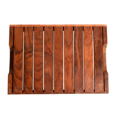 Trays with Flower Patterns Handcrafted in RoseWood (set of 2) 14x10/12x8.5 inches