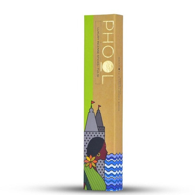 Tulsi - Handmade Temple Flower Natural Incense Sticks by PHOOL