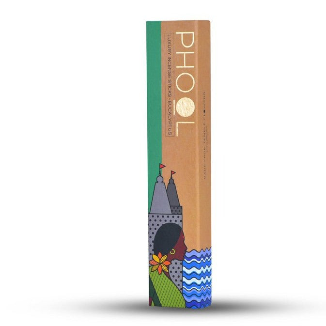 Eucalyptus - Handmade Temple Flower Natural Incense Sticks by PHOOL