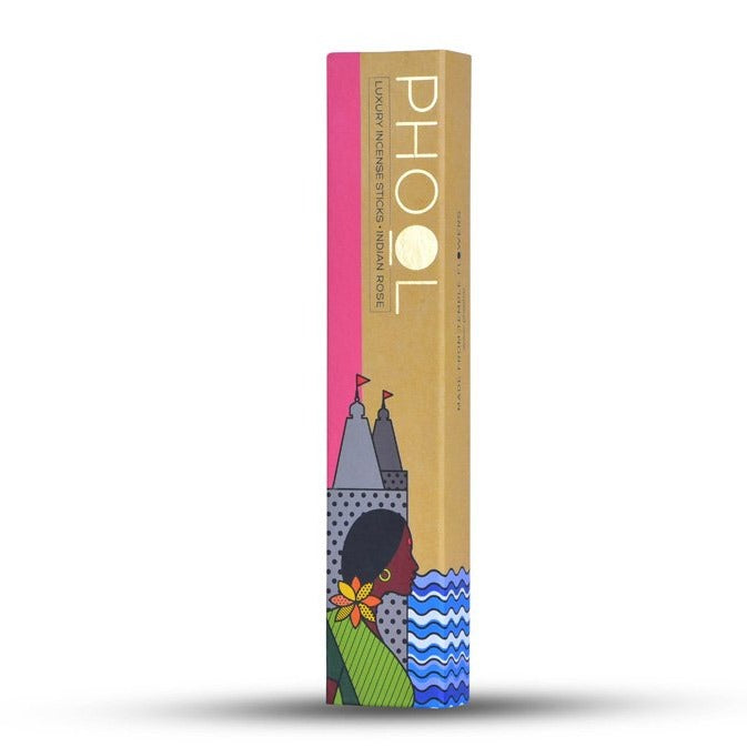 Indian Rose  - Handmade Temple Flower Natural Incense Sticks by PHOOL