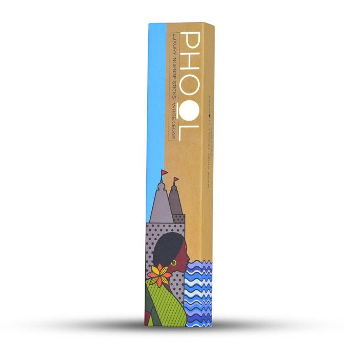 White Cedar - Handmade Temple Flower Natural Incense Sticks by PHOOL