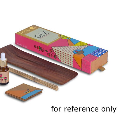 Indian Rose - Handmade Temple Flower Natural DIY Incense Making Kit by PHOOL