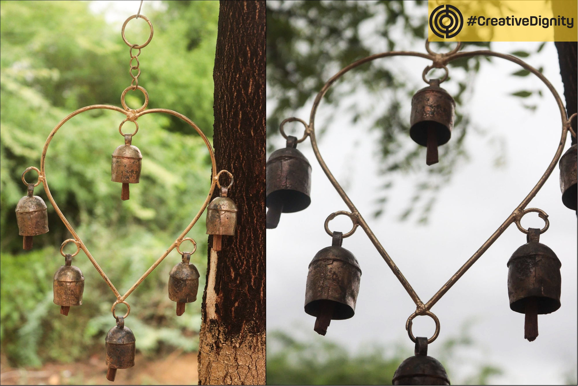 Kutch Copper Coated 6 Bell Hanging by Janmamad Luhar
