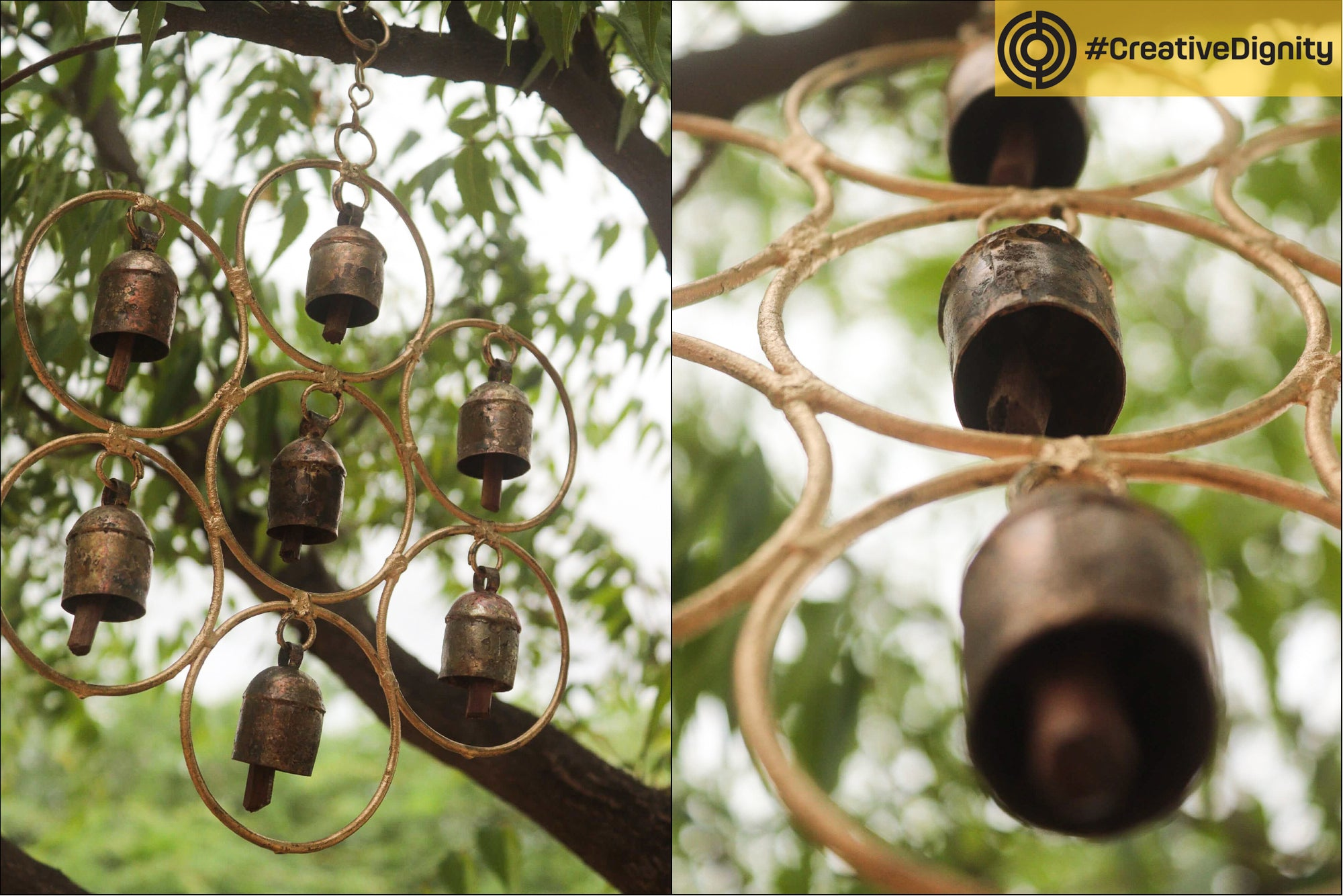 Kutch Copper Coated 7 Bell Hanging by Janmamad Luhar