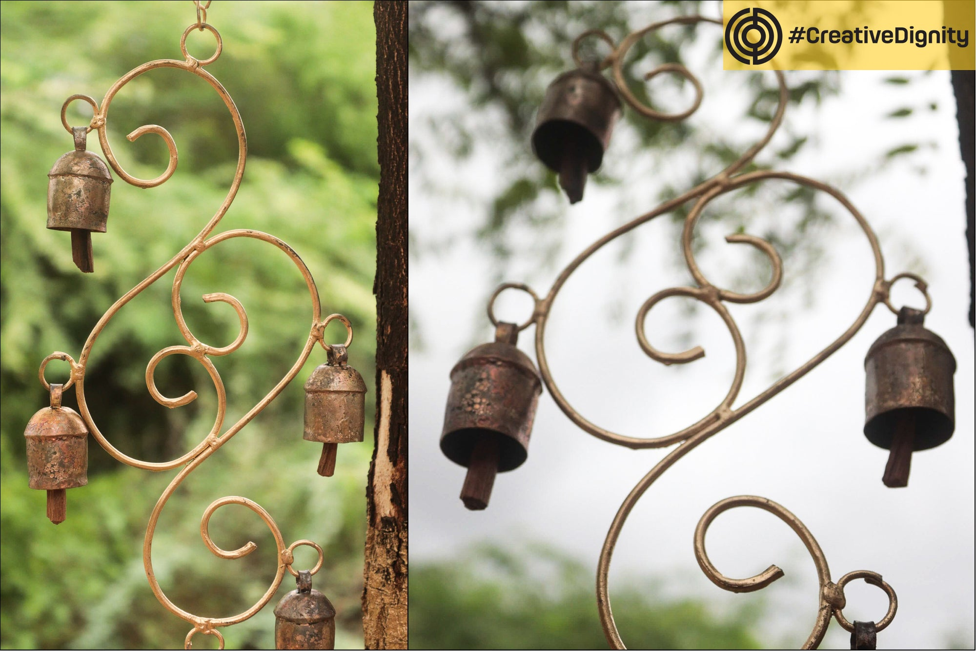 Kutch Copper Coated Bell Hanging by Janmamad Luhar