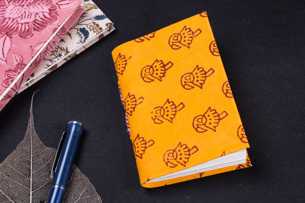 Bagh Fabric Cover Handmade Paper Notebook (13 x 9 cm)