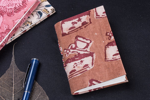Bindaas Fabric Cover Handmade Paper Notebook (13 x 9 cm)