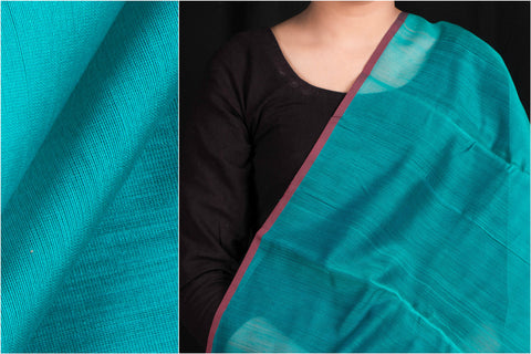 Chanderi Silk Cotton Handloom Mercerized Fabric