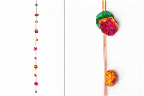 Flower Silk Boria Door Hanging String by Jugaad
