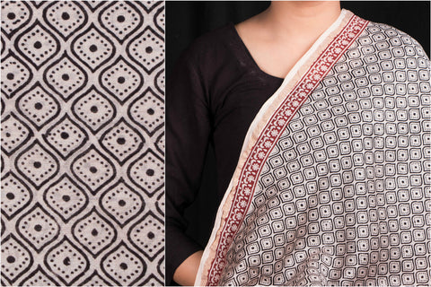 Bagh Gad Print Chanderi Silk Fabric