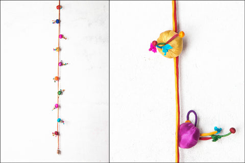 Flower Poppy Door Hanging String by Jugaad