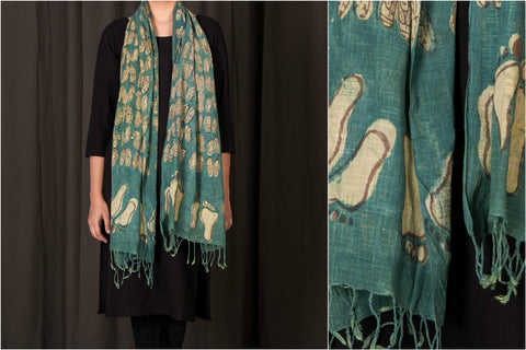 Bindaas Handwoven Block Printed Cotton Stole