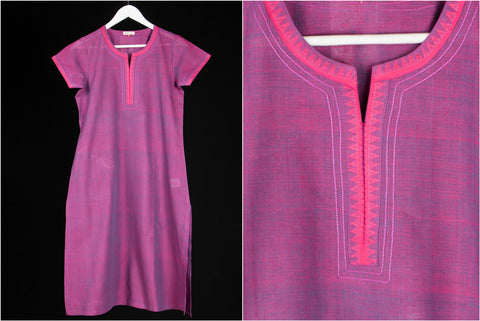Daram Women Mangalgiri Cotton Kurti with Zari