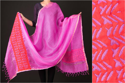 Special Kota Silk Barmer Applique Work Dupatta by GVCS
