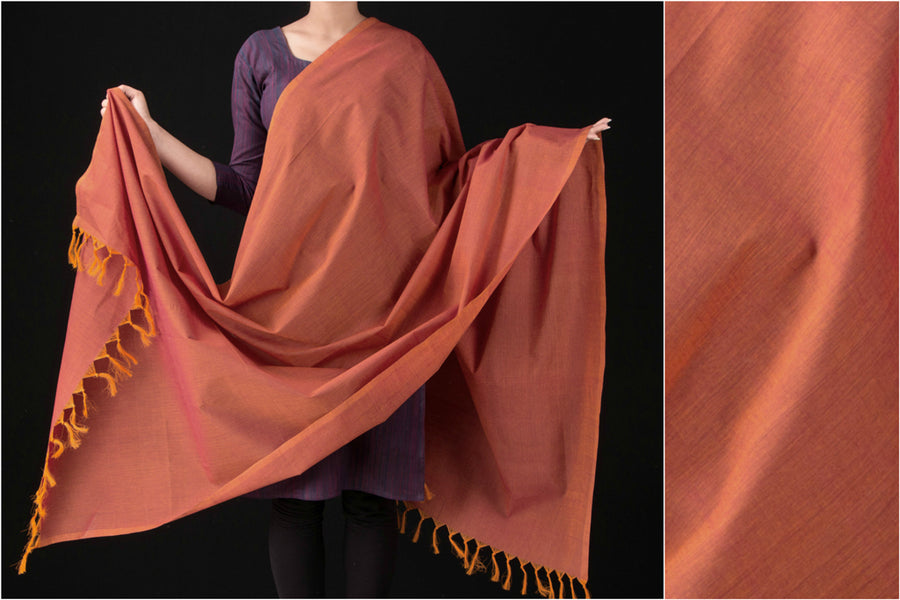 Chettinad Kandaangi Handloom Cotton Dupatta from Tamil Nadu