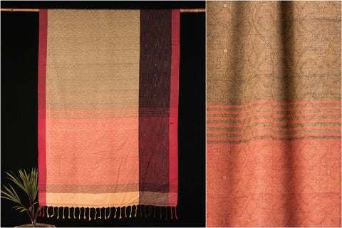 Sequence Handloom Cotton Saree from Phulia