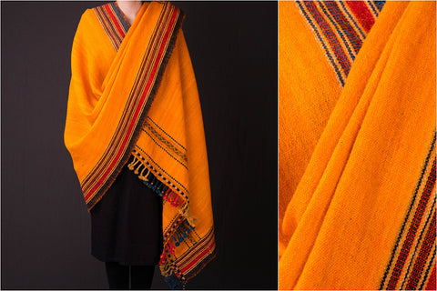 Kutchhi Traditional Handspun Pure Woolen Shawl