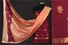 Chanderi Silk 2pc Suit Material Set with Zari Buti by Rauph Khan
