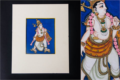 6in x 5in - Traditional Mysore Painting Parashuramavathara