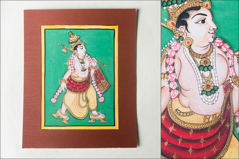8in x 6in - Traditional Mysore Painting Parashuramavathara