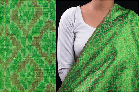 Pochampally Ikat Raw Silk Pure Handwoven Fabric