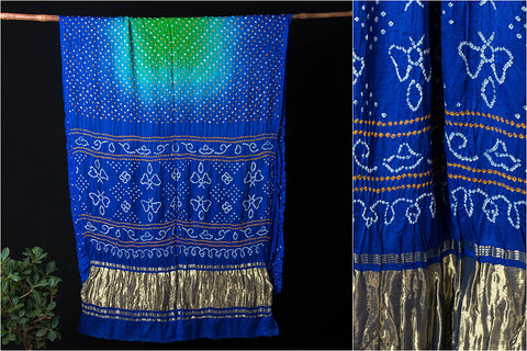 Pure Gaji Silk Dani Traditional Bandhani Saree