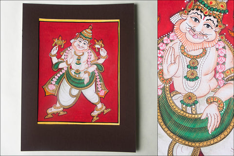 10in x 8in - Traditional Mysore Painting Narasimhavatharaa
