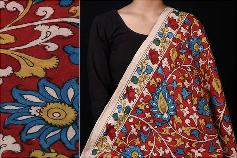 Srikalahasti Kalamkari Handpainted Cotton Fabric by Vishwanath