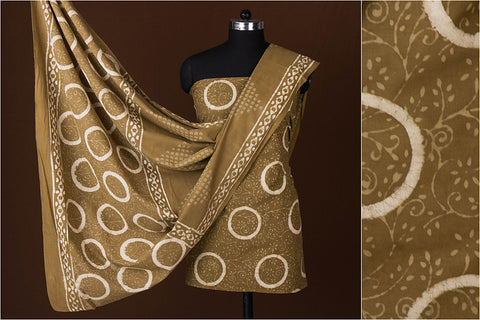 Traditional Buti Bagru Hand Block Printed Cotton 2pc Suit Material
