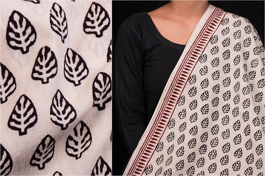 Bagh Block Print Natural Dyed Cotton Fabric